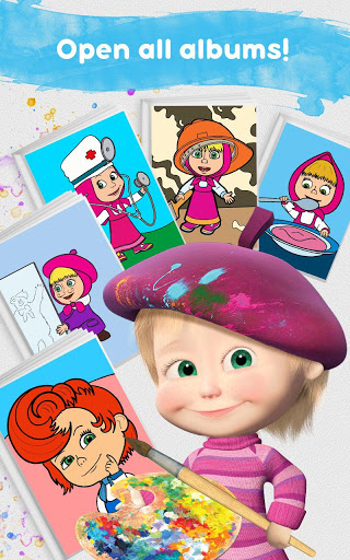Masha and the Bear Free Coloring Pages for Kids v1.7.7 screenshots 22