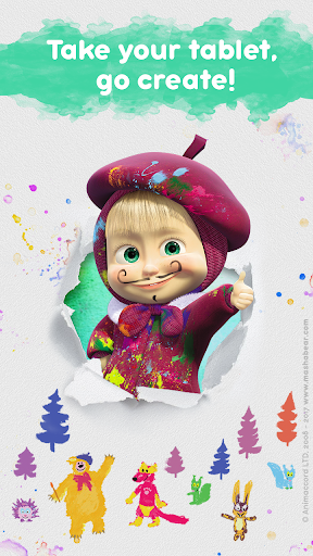 Masha and the Bear Free Coloring Pages for Kids v1.7.7 screenshots 4