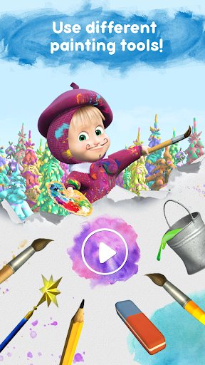 Masha and the Bear Free Coloring Pages for Kids v1.7.7 screenshots 6