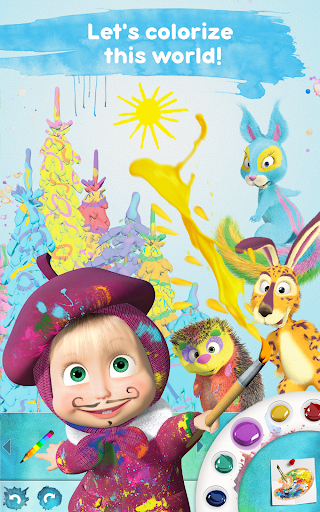Masha and the Bear Free Coloring Pages for Kids v1.7.7 screenshots 7