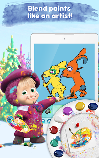 Masha and the Bear Free Coloring Pages for Kids v1.7.7 screenshots 8