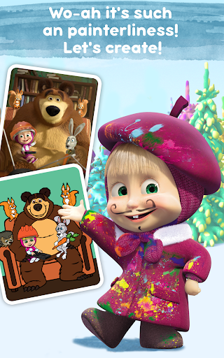 Masha and the Bear Free Coloring Pages for Kids v1.7.7 screenshots 9