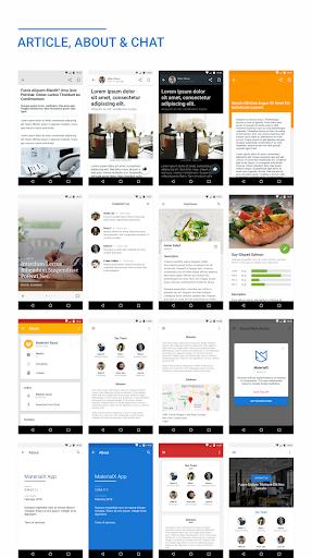 MaterialX – Android Material Design UI v2.8 screenshots 5
