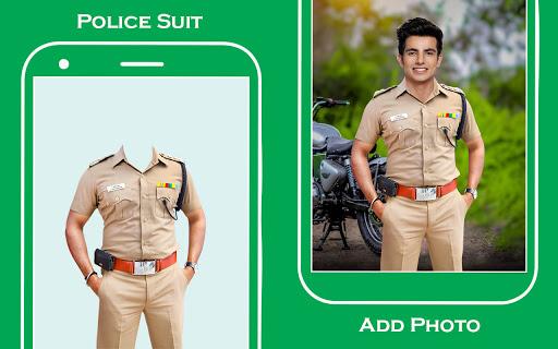 Men police suit photo editor v1.0.25 screenshots 11