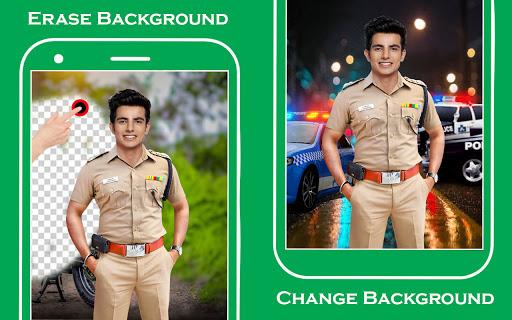 Men police suit photo editor v1.0.25 screenshots 2