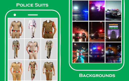 Men police suit photo editor v1.0.25 screenshots 5
