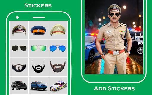 Men police suit photo editor v1.0.25 screenshots 8