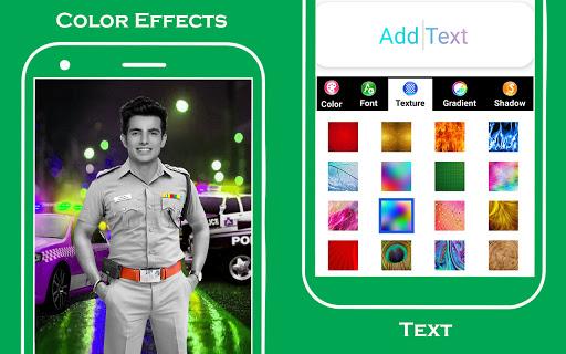 Men police suit photo editor v1.0.25 screenshots 9