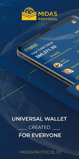 Midas Crypto Wallet Bitcoin Ethereum XRP EOS v2.0 screenshots 1