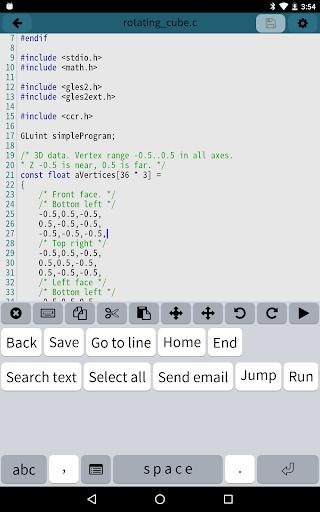Mobile C CC Compiler v2.5.2 screenshots 7