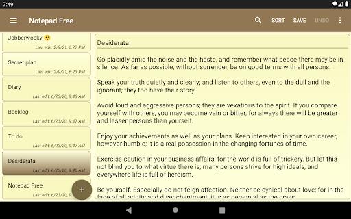 Notepad Free v1.16.0 screenshots 7