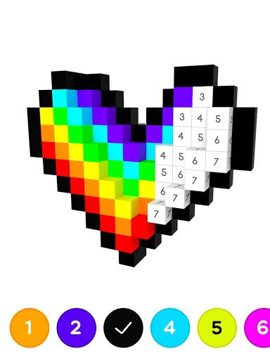 Number Coloring 3D No.Draw v1.3.2 screenshots 6