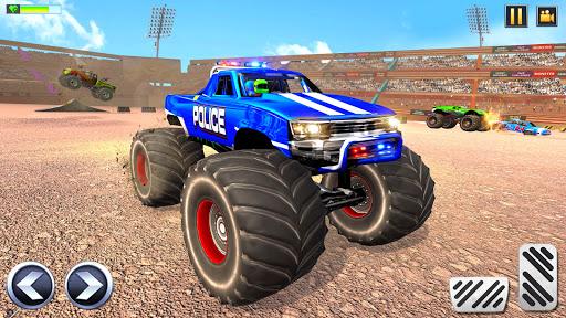 Police Demolition Derby Monster Truck Crash Games v3.3 screenshots 1
