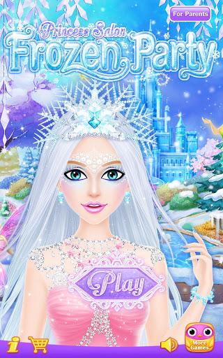 Princess Salon Frozen Party v1.1.8 screenshots 1