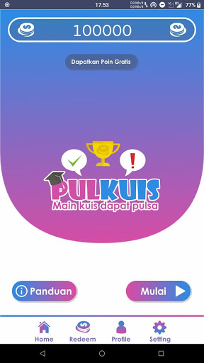 PulKuis – Main Kuis Dapat Pulsa v1.5.0 screenshots 1