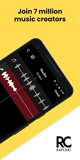 Rapchat record music beats auto voice tune v6.7.2 screenshots 2