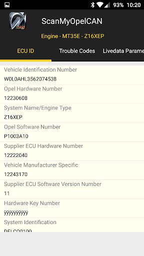 ScanMyOpelCAN v1.0.115 screenshots 2