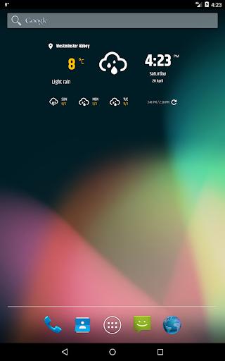Simple weather amp clock widget no ads v0.9.70 screenshots 10
