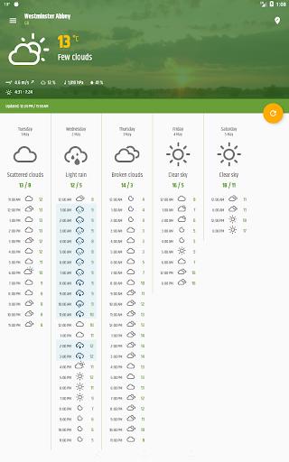 Simple weather amp clock widget no ads v0.9.70 screenshots 9