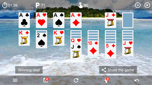 Solitaire classic card game v6.4 screenshots 4