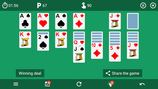 Solitaire classic card game v6.4 screenshots 9