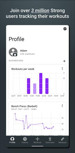 Strong – Workout Tracker Gym Log v2.7.0 screenshots 1
