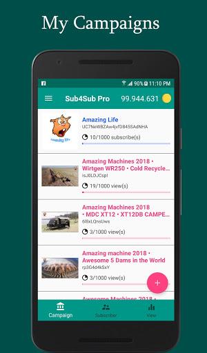 Sub4Sub Pro – View4View – Get Free Views For Video v6.3 screenshots 1