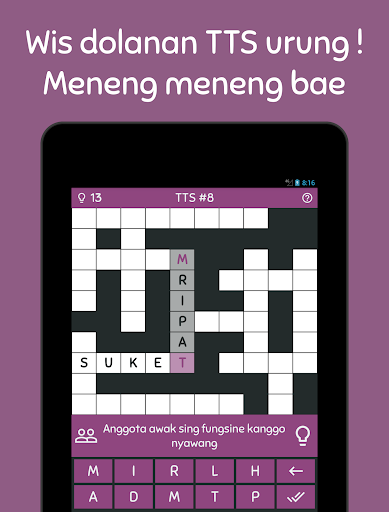 TTS Bahasa Jawa – Teka Teki Silang 2018 Offline v1.1.8 screenshots 4