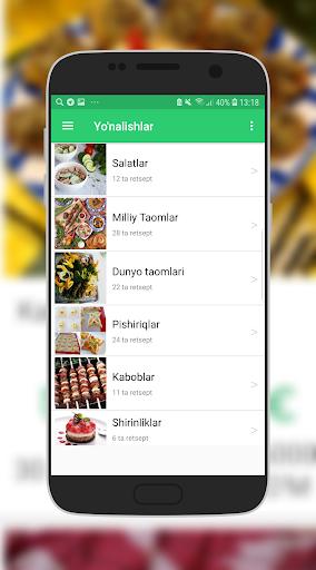Taomlar retsepti – Salatlar Ovqatlar Pishiriqlar v1.0 screenshots 2