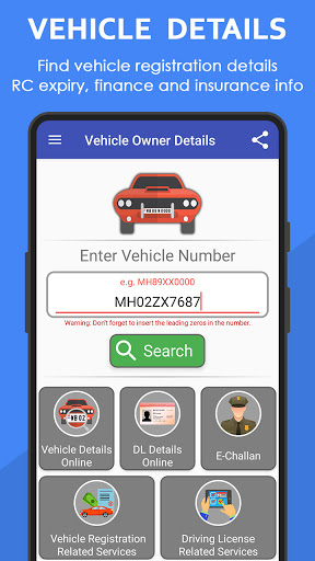 Vehicle Owner Details India v4.0.0 screenshots 2