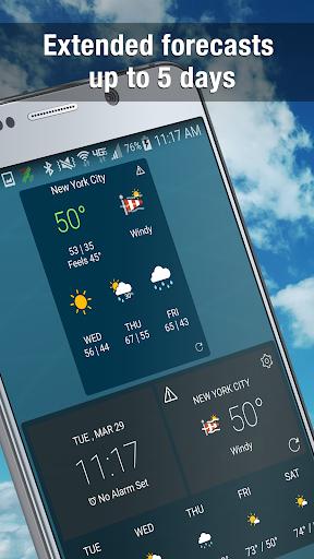 Weather Widget by WeatherBug Alerts amp Forecast v3.0.2.4 screenshots 1