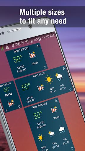 Weather Widget by WeatherBug Alerts amp Forecast v3.0.2.4 screenshots 2