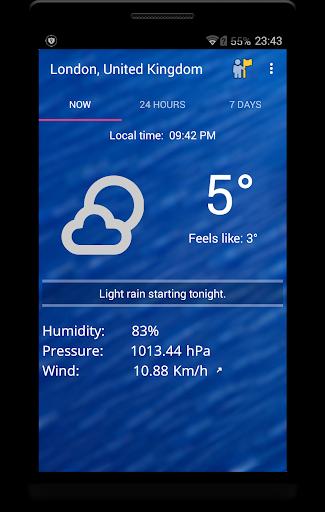 Weekly Weather Forecast v1.9.6 screenshots 1