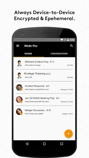 Wickr Me Private Messenger v5.76.5 screenshots 1
