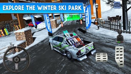 Winter Ski Park Snow Driver v1.0.3 screenshots 2