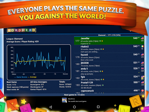 WordHero best word finding puzzle game v13.5.0 screenshots 5