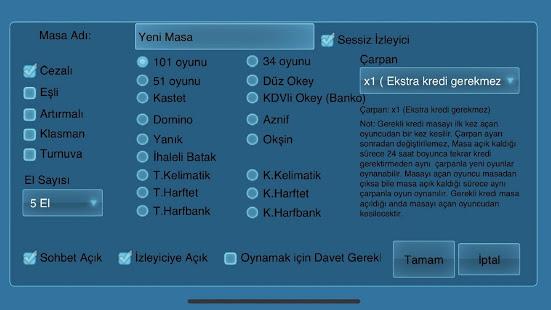 101 Okey Domino batak hakkarim.net yzbir ve okin v2.1.8 screenshots 16