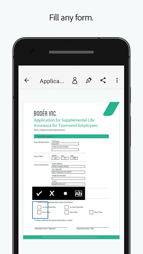 Adobe Fill amp Sign Easy PDF Doc amp Form Filler. v screenshots 1