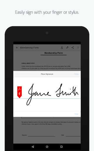 Adobe Fill amp Sign Easy PDF Doc amp Form Filler. v screenshots 5