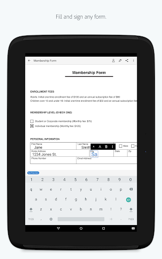 Adobe Fill amp Sign Easy PDF Doc amp Form Filler. v screenshots 6