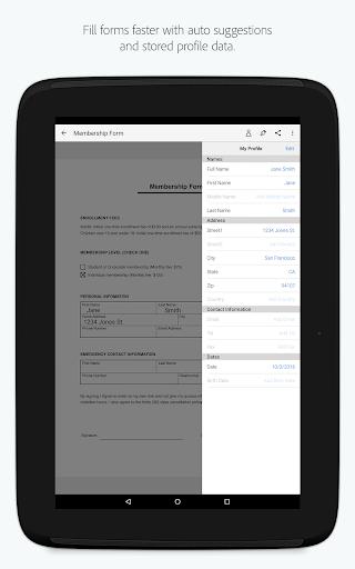 Adobe Fill amp Sign Easy PDF Doc amp Form Filler. v screenshots 8