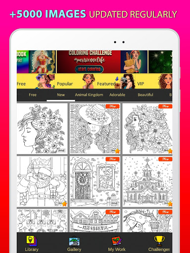 Adult Coloring Book Free 2020 by ColorWolf v622 screenshots 7