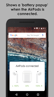 AirBuds Popup Free – airpod battery app v screenshots 1