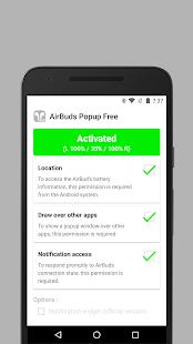 AirBuds Popup Free – airpod battery app v screenshots 3