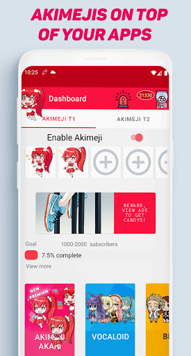 Akimeji Shimeji Chibis Live Wallpaper over apps v1.9.7 screenshots 1