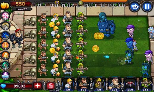 Army vs Zombies Tower Defense Game v1.1.0 screenshots 4