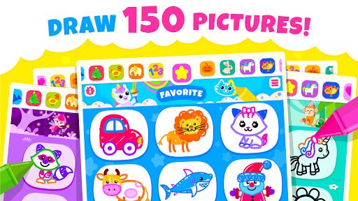 Bini Toddler Drawing Apps Coloring Games for Kids v screenshots 1