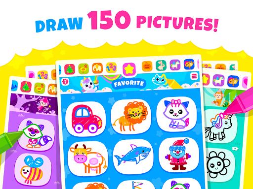 Bini Toddler Drawing Apps Coloring Games for Kids v screenshots 17