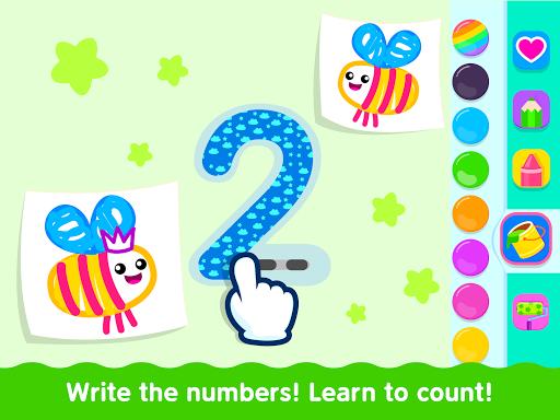 Bini Toddler Drawing Apps Coloring Games for Kids v screenshots 21
