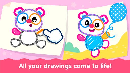 Bini Toddler Drawing Apps Coloring Games for Kids v screenshots 3